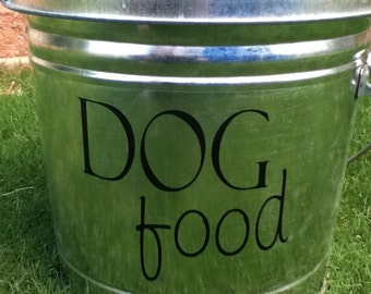 Dog Food Decal for your pet food container