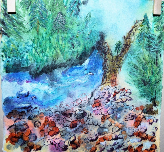 Watercolor painting, Dolores River