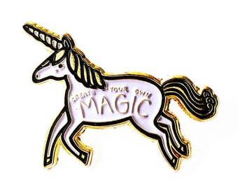 Unicorn Lapel Pin, Unicorn Enamel Pin, Enamel Unicorn Brooch, Kids Unicorn Jewelry, Unicorn Lapel Brooch, Fantasy Animal Pin