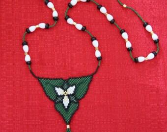 Trillium Necklace OOAK Semi 3D