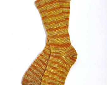 Handmade Wool Socks 422 -- Women's Size 9-11 or Men's Size 7-9