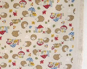 Japanese Cotton Linen Canvas Fabrics - hedgehog