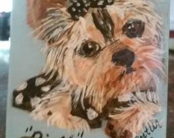 Sur mesure pour animaux ACEO, votre animal de compagnie sur aimant ACEO, cartes à collectionner art, art collection, petit art, acrylique sur bois, chien aceo, le portrait de petit chien