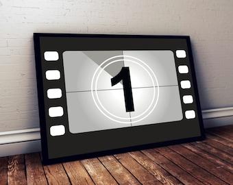 Movie Poster Movie Print Movie Wall Art Film Reel Countdown Cinema Poster Film Poster Film Print Movie Art (No 1)