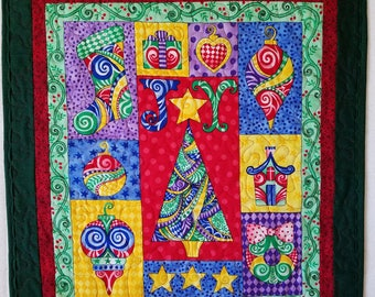 Joyful Christmas Quilted Wall Hanging