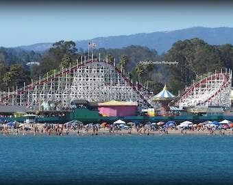 Roller Coaster photograph - Big Dipper Roller Coaster - Santa Cruz - Santa Cruz photo - Santa Cruz California - Santa Cruz Beach Boardwalk