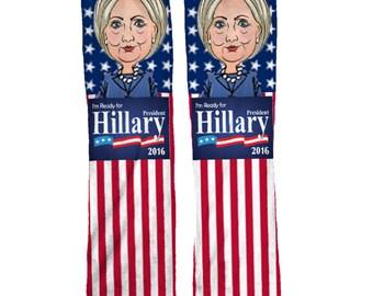 Hillary Clinton Democratic Socks | Political Socks | Hillary Clinton Socks | Democrat Socks | Mens Socks | Womens Socks