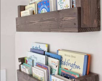 Wall Mount Book Slot Organizer, Entrance Way Mail Sorter, Kid Book  Storage