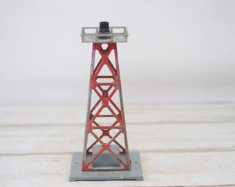 Vintage Train Beacon With Metal Lattice Work Tower Electric #10