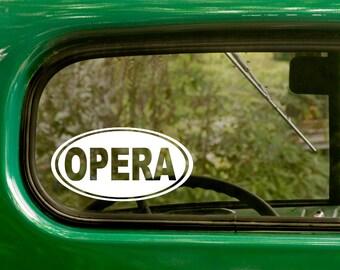 Oval Opera Decal, Car Decal, Opera Sticker, Euro Decal, Laptop Sticker, Oval Sticker, Bumper, Vinyl Decal, Car Sticker