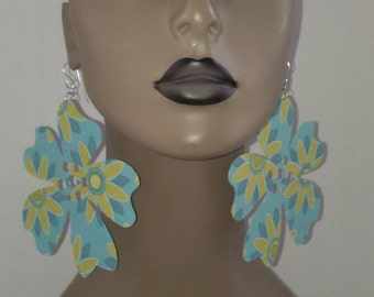 Attractive Flower Fabric Earrings, Large Fabric Earrings, Women Earrings, Large Earrings, Big Earring