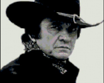 Johnny Cash Cross Stitch Pattern