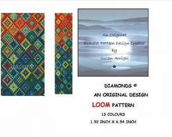LOOM Bracelet Pattern - Diamonds