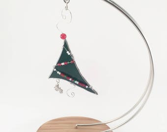 Stained Glass Christmas Tree - Stained Glass Christmas Ornament - Christmas Ornament - Christmas Tree