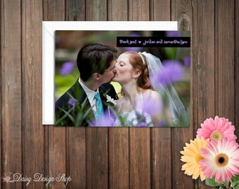 Thank You Cards Featuring Your Photo - Set of 10 with Envelopes
