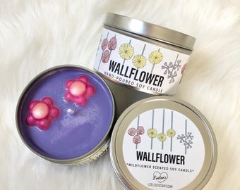 WALLFLOWER 8 oz wildflower scented soy candle | decorative candle | floral candle | mother's day gift | birthday gift | housewarming gift |