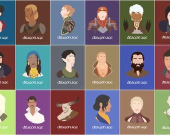 Dragon Age Minimalist Posters