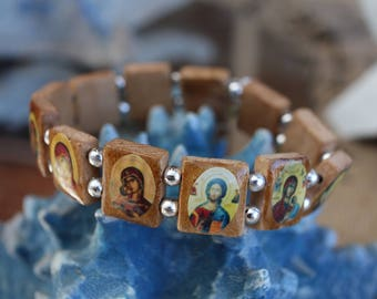 Orthodox icon stretch  bracelet