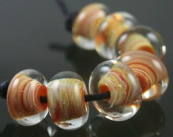 Handmade Lampwork Boro Beads Set of 7 Boro Borosilicate Glass StoneyMarie