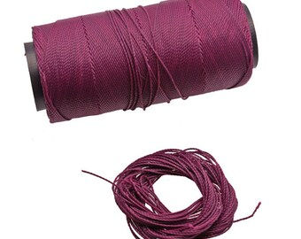 Macrame Waxed cord 10 Yards - 9 Meters macrame string, waxed polyester cord, 1 mm thread, Art supply, jewelry making, Diy macrame, 1 mm rope