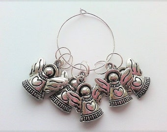 WoollyKits Angel Stitch Markers (Pack of 6 Charms) for Knitting/Crochet