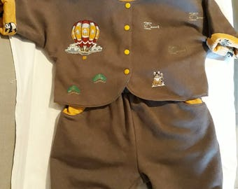 All child embroidered 4 outfits in a 9/12 months