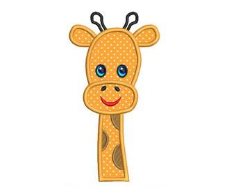 Giraffe Applique Embroidery Design. Giraffe Applique Machine Embroidery Design. Giraffe Birthday. Giraffe Face Embroidery.