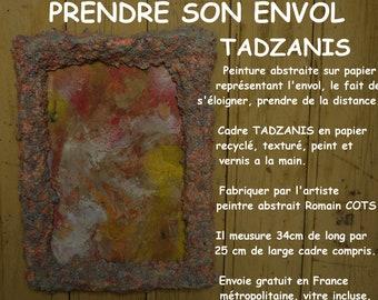 """Framed abstract painting """"Soar"""" TADZANIS interior design"""