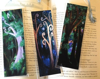 Fantasy Forest bookmark, your choice of artwork