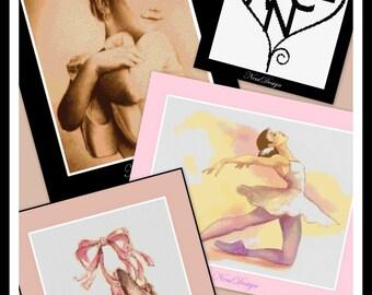 Ballet package, cross stitch pattern, cross stitch ballet, ballet pattern, ballet, PDF pattern - Instant Download!