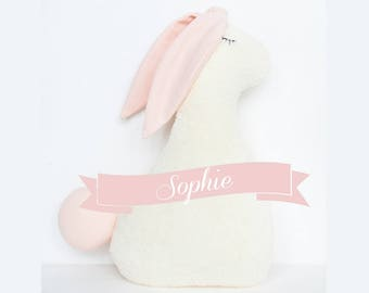 Sophie the Bunny, ecru softie, plushie, toy, kids toy, soft stuffed animal