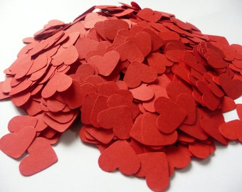Valentines day Paper hearts, 1000 die cut hearts, die cuts, paper heart punches, wedding confetti, scrapbooking, weddings, party