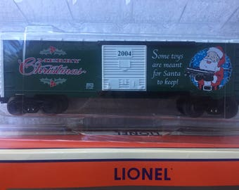 Lionel Christmas Boxcar die cast metal sprung trucks frame 2004