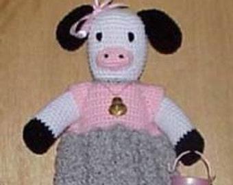 Cow CROCHET PATTERN Bag Holder Housewares