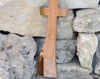 Wood Cross; Rustic Decor; Wood Wall Cross; Mesquite Wall Cross; Military Graduation Gift; Graduation; Confirmation; Free Ground Shipping USA