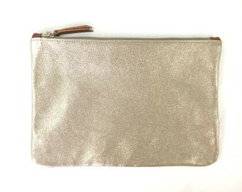 READY TO SHIP: Medium Leather Clutch (multiple colors)