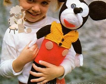 Instant Download PDF Knitting Pattern - Micky/Micky Mouse Knitting Pattern - Digital Download