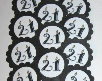 21st Birthday Cupcake Toppers/Party Picks Item #1705