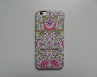 Liberty fabric iPhone & Samsung Galaxy case - William Morris Lodden Pink