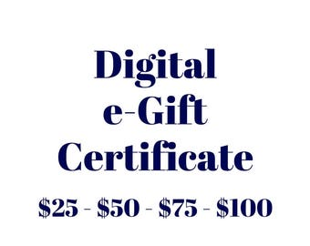 Gift Certificate Download - Mothers Day Gift Voucher - Gift for Mom