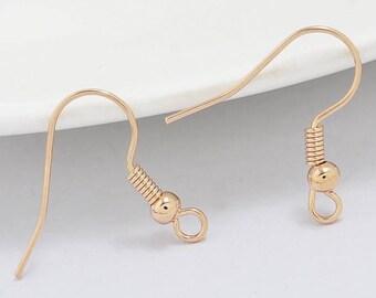100 pcs Rose Gold Earring hooks,cadmium free,rose gold Fishhooks,rose gold ear wire,rose gold finding,rose gold earring hook,rose gold hook