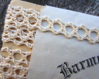 Vintage Barmer Mercerized Trimming Cream White 3 Yard Package