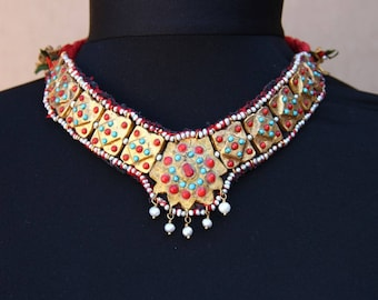 Khiva Khorezm gold washed choker - necklace