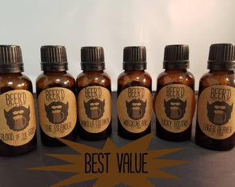 Sampler 30mL Full Set 6 pack (best value) -  Beer-Infused Beard Oil