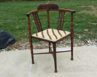 Antique Corner Chair Turn Of The Century