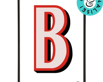 Beano Alphabet Letters Pop Art from 80 years of Beano comics - personalise with a name, place or word of your choice for a bespoke touch