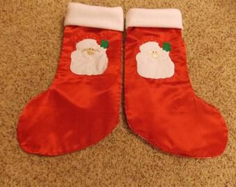 Personalized Santa Christmas stocking