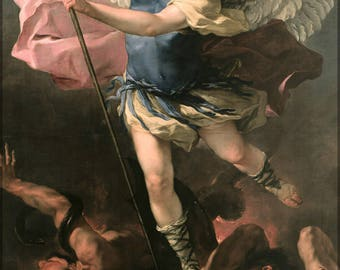 Poster, Many Sizes Available; St. Michael By Luca Giordano