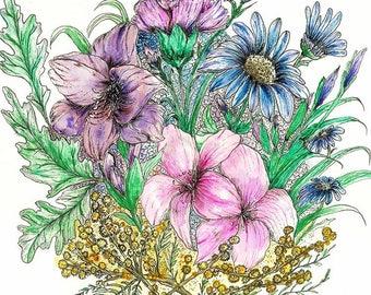 International Women's Day Flowers - Color Prints