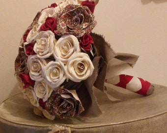Vintage Red and barley bouquet.